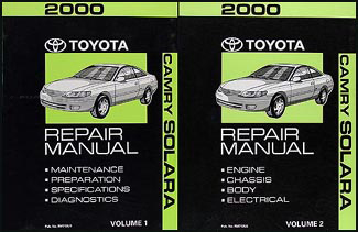 2000 Toyota Camry Solara Repair Manual Original Set