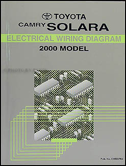 2000 toyota camry solara coupe wiring diagram manual original 2004 Toyota Camry Wiring Diagram