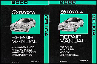 2000 Toyota Celica Repair Manual Original 2 Volume Set
