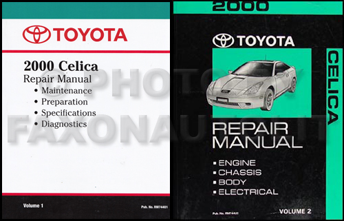 2000 Toyota Celica Repair Manual Reprint 2 Volume Set