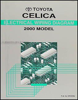 2000 Toyota Celica Wiring Diagram Manual OriginalFaxon Auto Literature