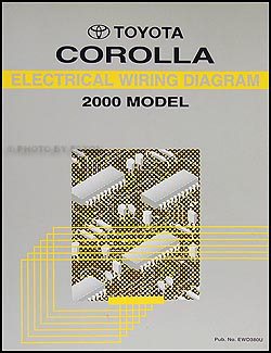 2000 Toyota Corolla Wiring Diagram Manual OriginalFaxon Auto Literature