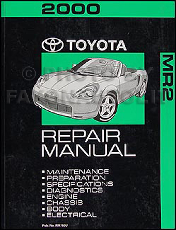 2000 Toyota MR2 Repair Manual Original