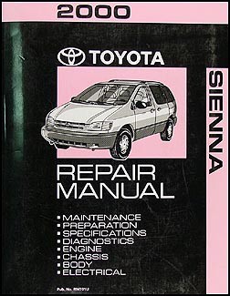 2000 Toyota Sienna Repair Manual Original