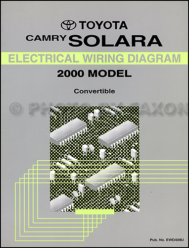 2000 Toyota Camry Solara Convertible Wiring Diagram Manual Original