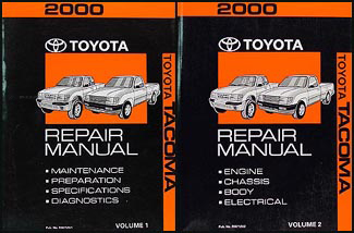 2000 Toyota Tacoma Repair Manual Original Set