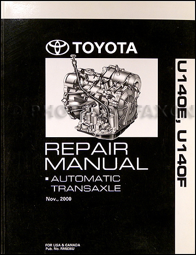 2001-2006 Toyota Camry Highlander Automatic Transmission Repair Shop Manual