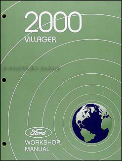 2000 Mercury Villager Repair Manual Original