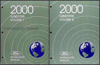 2000 Ford Windstar Repair Manual 2 Volume Set Original