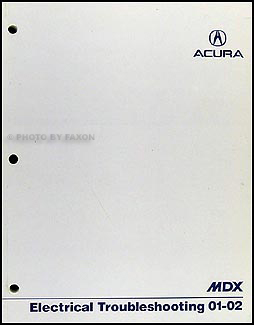 2001-2002 Acura MDX Electrical Troubleshooting Manual Original
