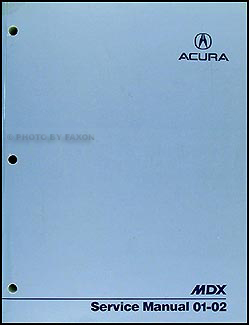 2001-2002 Acura MDX Shop Manual Original