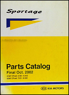 2001-2002 Kia Sportage Parts Book Original