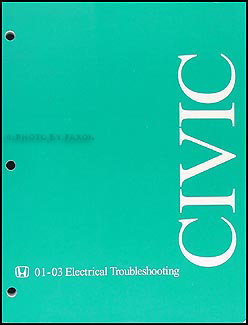 2001-2003 Honda Civic Electrical Troubleshooting Manual Original