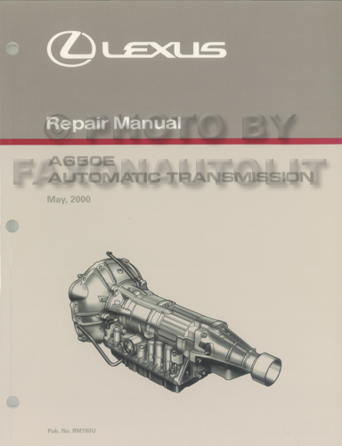 2001-2005 Lexus IS 300 Automatic Transmission Repair Shop Manual Original