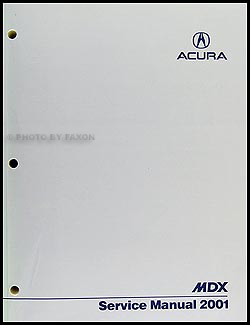 2001 Acura MDX Shop Manual Original