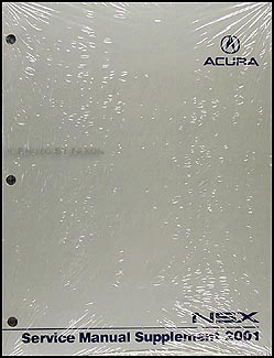 2001 Acura NSX Shop Manual Original Supplement