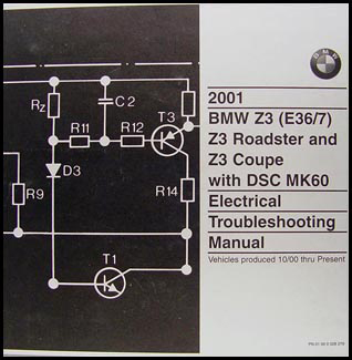 2001 BMW Z3/Roadster/Coupe Electrical Troubleshooting Manual Original