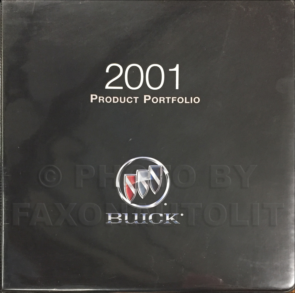 2001 Buick Color & Upholstery Dealer Album/Data Book Original