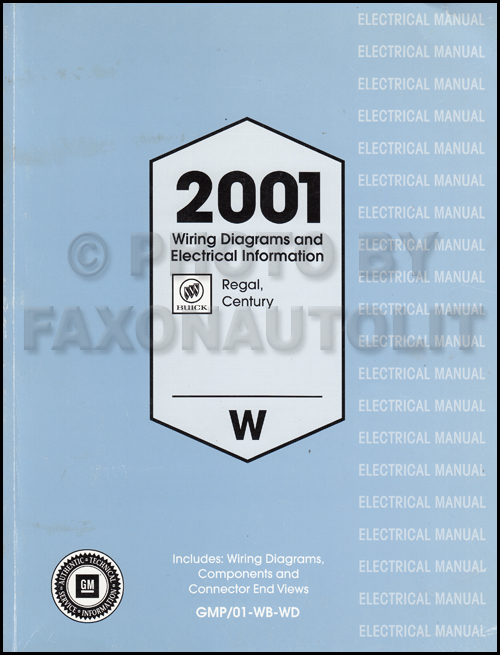 1956 buick century wiring diagram 2001 buick regal and century wiring diagram manual original  2001 buick regal and century wiring