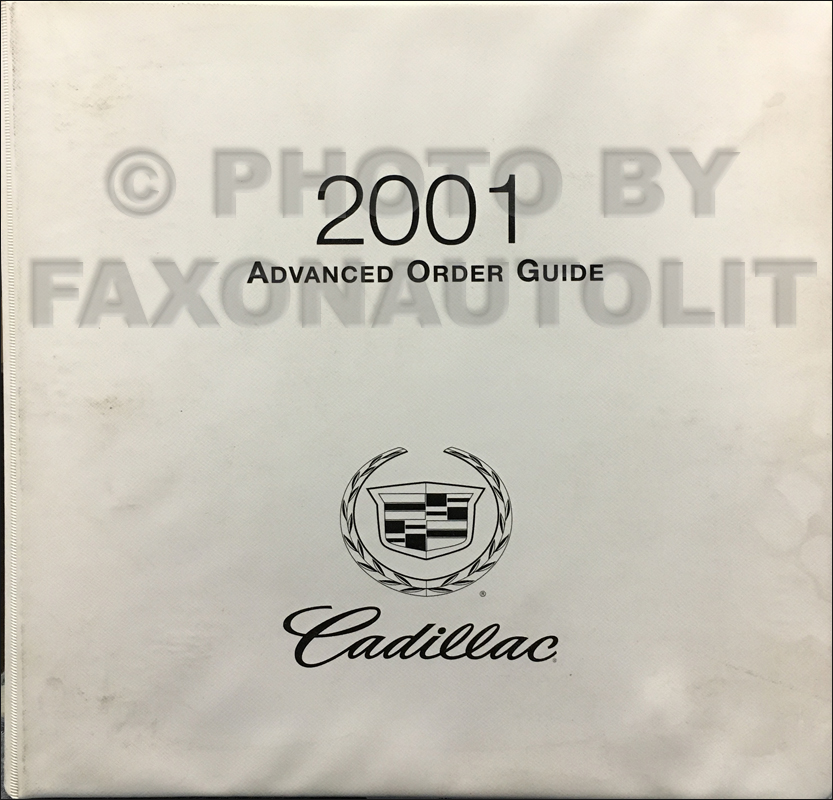 2001 Cadillac Advance Ordering Guide Original Dealer Album