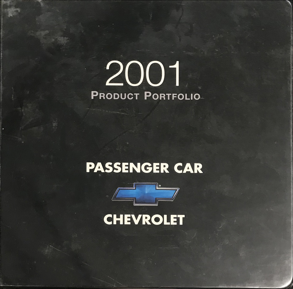 2001 Chevrolet Car Color & Upholstery Dealer Album/Data Book Original