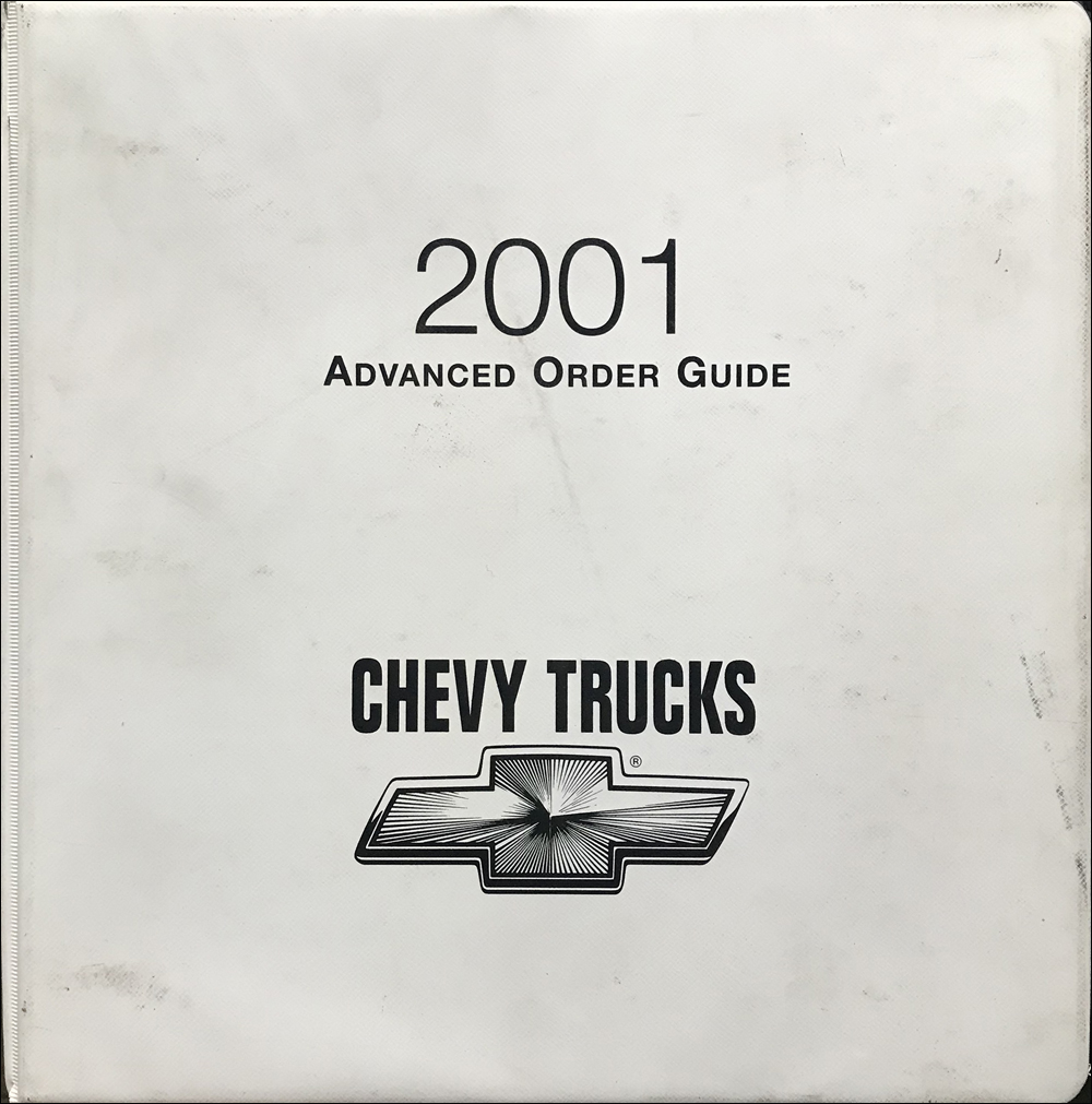 2001 Chevrolet Truck Advanced Order Guide Original