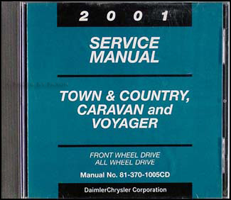 2001 Caravan, Town & Country, & Voyager Van Repair Manual CD Original