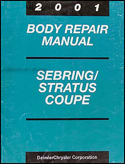 2001 Sebring and Stratus Coupe Body Shop Manual Original