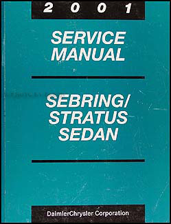 2001 Sebring and Stratus Shop Manual CD Original Sedan and Convertible
