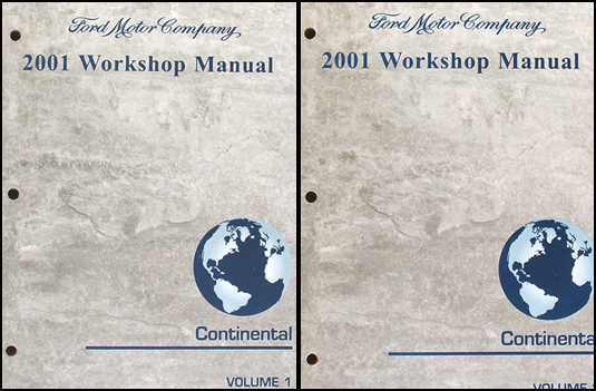 2001 Lincoln Continental Shop Manual Original 2 Volume Set
