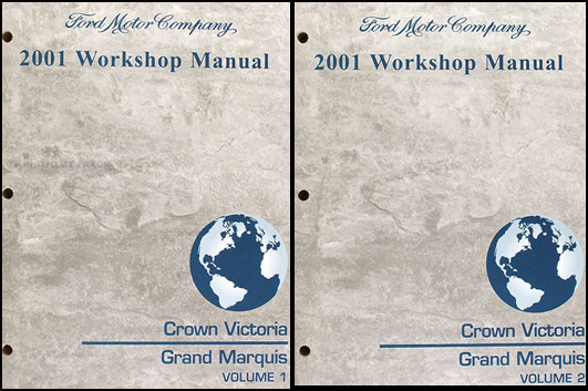 2001 Ford Crown Victoria and Mercury Grand Marquis Repair Shop Manual set
