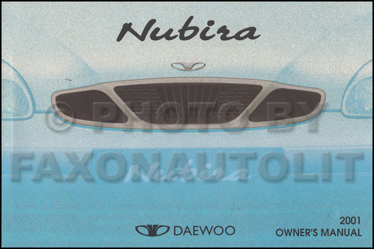 2001 Daewoo Nubira Repair Shop Manual Original 2 Volume Set