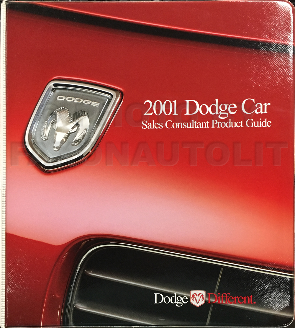 2001 Dodge Car Sales Consultant Product Guide Original