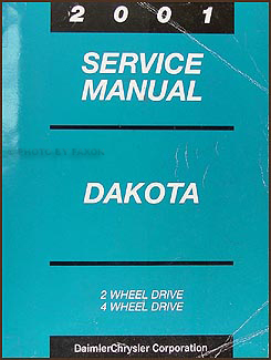2001 Dodge Dakota Repair Manual Original
