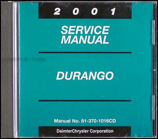 2001 Dodge Durango CD-ROM Repair Manual Original