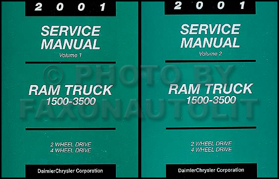 2001 Dodge Ram Truck Repair Shop Manual Original Gas/Diesel Pickup