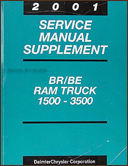 2001 Dodge Ram Truck Shop Manual Original Supplement