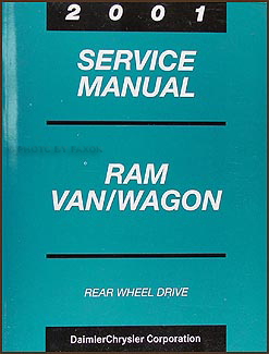 2001 Dodge Ram Van & Wagon Shop Manual Original B1500-B3500