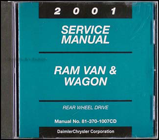 2001 Dodge Ram Van & Wagon Shop Manual CD-ROM Original B1500-B3500