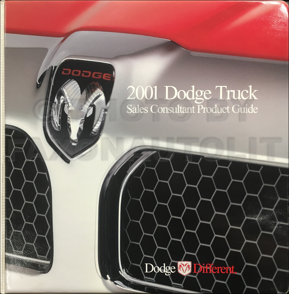 2001 Dodge Truck Sales Consultant Product Guide Original Dealer Album