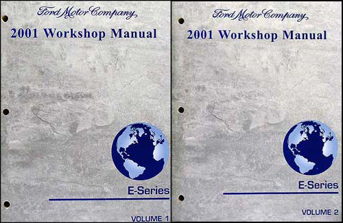 2001 Ford Econoline Van and Club Wagon Repair Shop Manual Set of 2 Original
