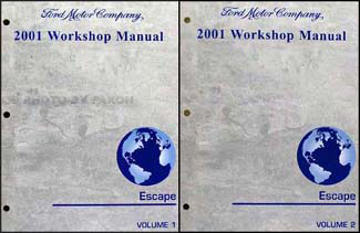 2001 Ford Escape Repair Manual Original 2 Volume Set