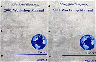 2001 Ford Escort and ZX-2 Shop Manual 2 Volume Set Original