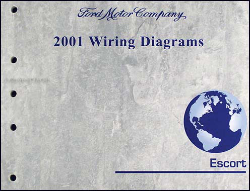 2001 ford escort  zx2 wiring diagram manual original
