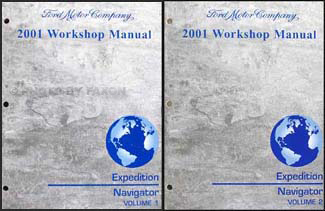 2001 Ford Expedition & Lincoln Navigator Repair Manual Original 2 Volume Set