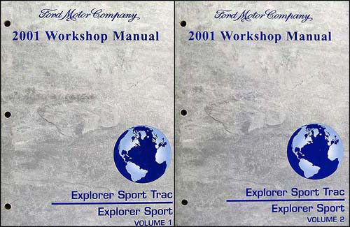 2001 Ford Explorer Sport Trac Pickup and Explorer SUVRepair Shop Manual Set