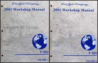 2001 Ford F-150 Repair Manual 2 Volume Set Original