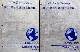 2001 Ford F650-F750 Medium Truck Repair Manual 2 Volume Set Original