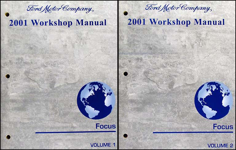 2001 ford focus shop manual 2 volume set original