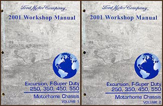 2001 Excursion, Super Duty F-250-F550 Set Repair Shop Manual Original